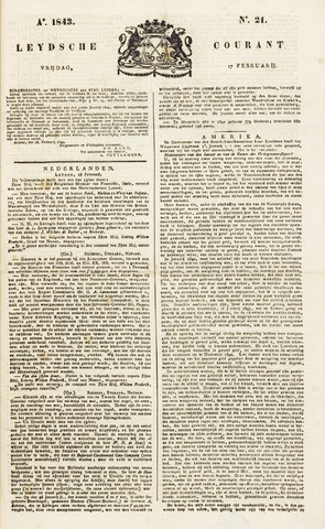 Leydse Courant 1843-02-17