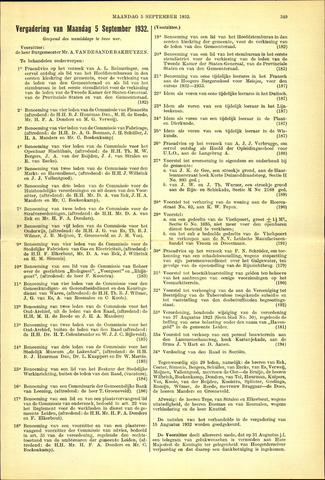 Handelingen van de Raad 1932-09-05