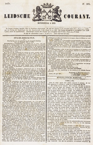 Leydse Courant 1871-05-04