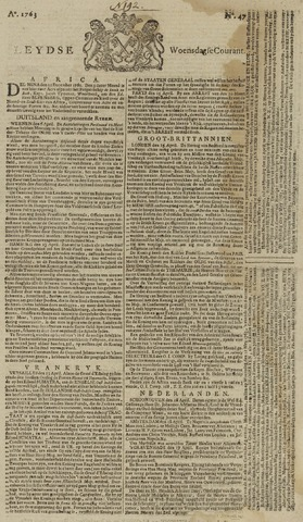 Leydse Courant 1763-04-20