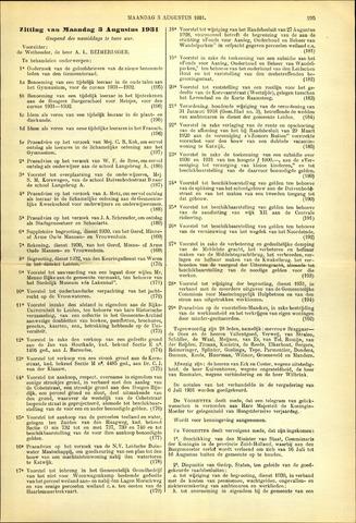 Handelingen van de Raad 1931-08-03