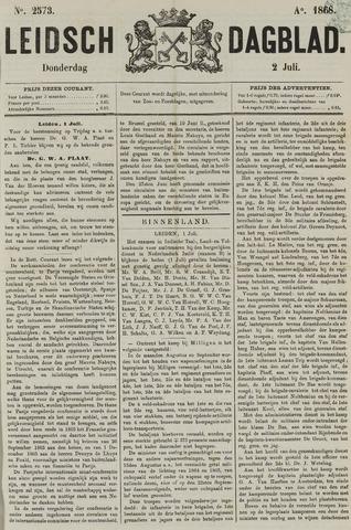 Leidsch Dagblad 1868-07-02
