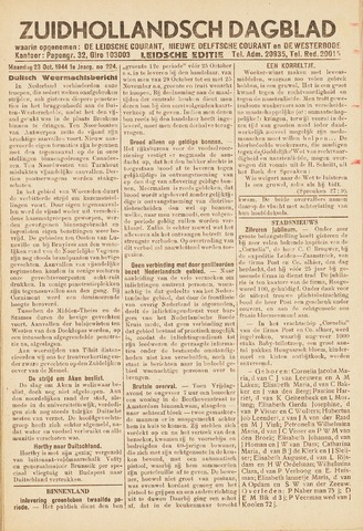 Zuidhollandsch Dagblad 1944-10-23