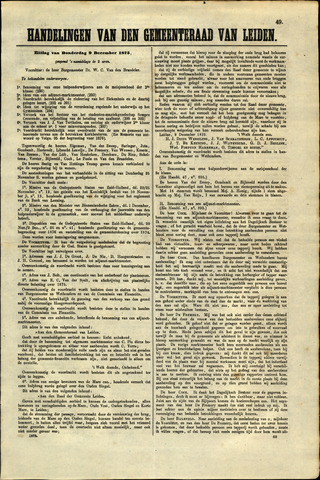 Handelingen van de Raad 1875-12-09
