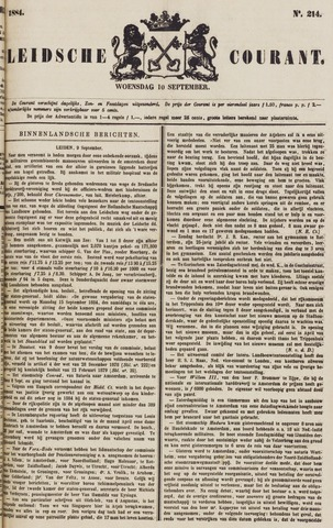 Leydse Courant 1884-09-10