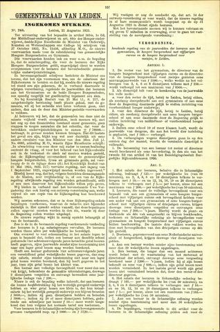 Handelingen van de Raad 1923-08-21