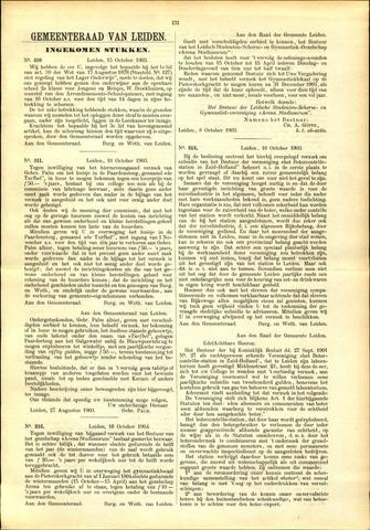 Handelingen van de Raad 1903-10-15