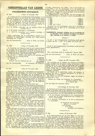Handelingen van de Raad 1907-11-19