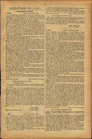 Handelingen van de Raad 1893-11-20