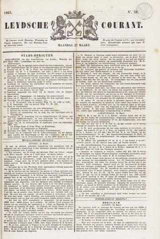 Leydse Courant 1865-03-27
