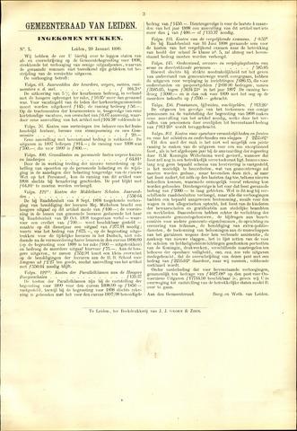 Handelingen van de Raad 1899-01-20