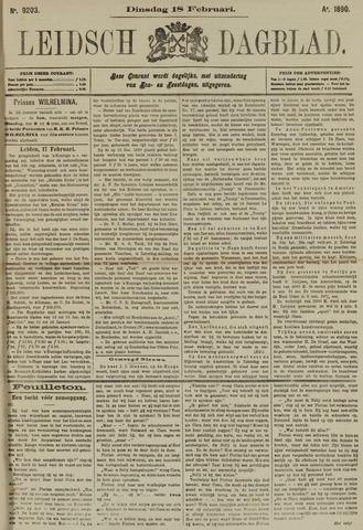 Leidsch Dagblad 1890-02-18