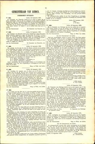 Handelingen van de Raad 1885-09-22