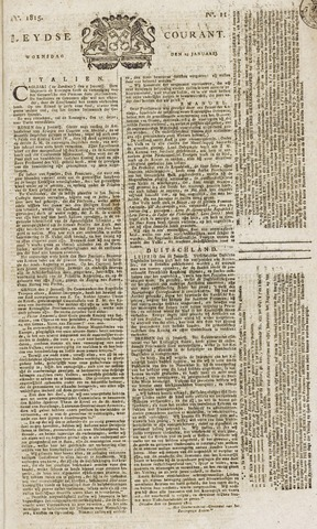 Leydse Courant 1815-01-25