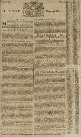 Leydse Courant 1759-11-19