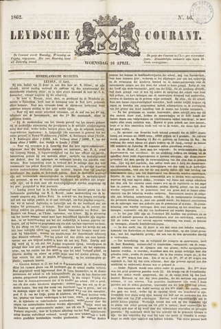 Leydse Courant 1862-04-16