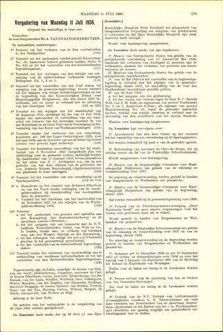 Handelingen van de Raad 1938-07-11