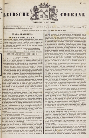 Leydse Courant 1882-01-14