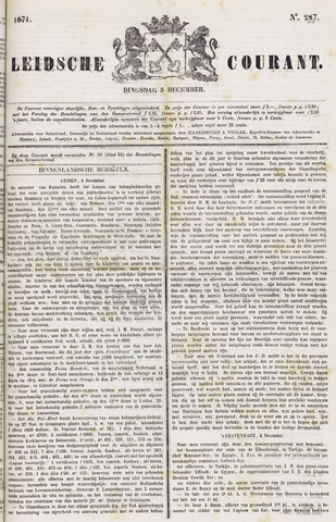 Leydse Courant 1871-12-05