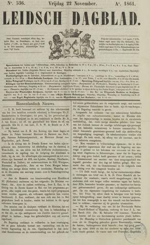 Leidsch Dagblad 1861-11-22