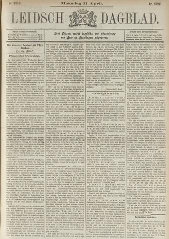 Leidsch Dagblad 1892-04-11