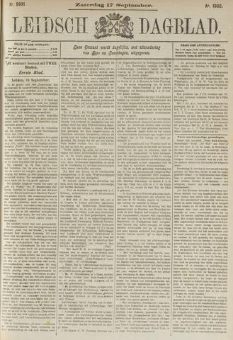 Leidsch Dagblad 1892-09-17