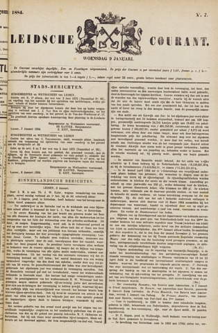 Leydse Courant 1884-01-09