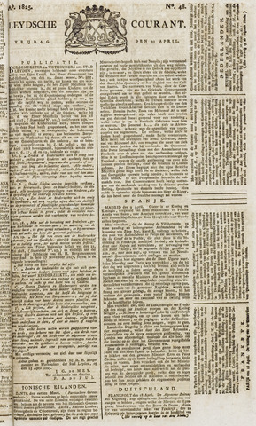 Leydse Courant 1825-04-22