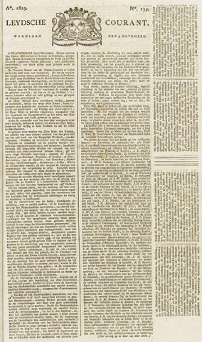 Leydse Courant 1825-11-09