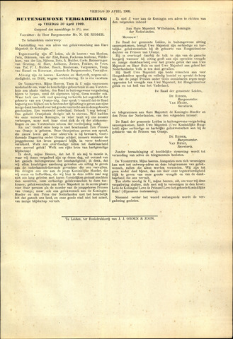 Handelingen van de Raad 1909-04-30