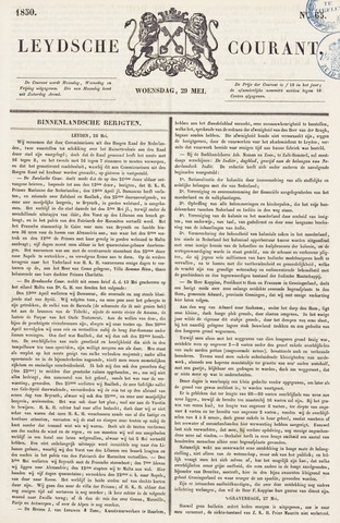 Leydse Courant 1850-05-29