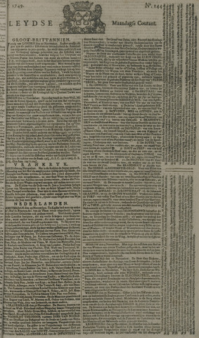 Leydse Courant 1749-12-01