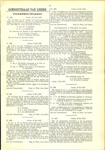 Handelingen van de Raad 1907-04-29