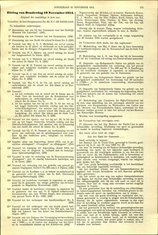 Handelingen van de Raad 1914-11-19