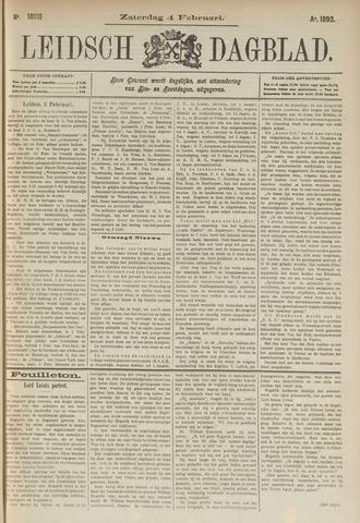 Leidsch Dagblad 1893-02-04
