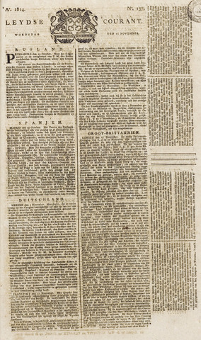 Leydse Courant 1814-11-16