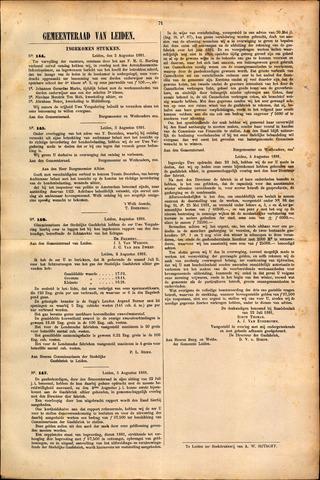 Handelingen van de Raad 1881-08-02