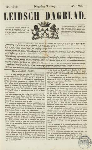 Leidsch Dagblad 1863-06-09