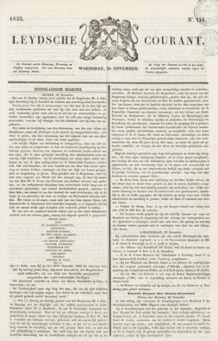 Leydse Courant 1855-11-28