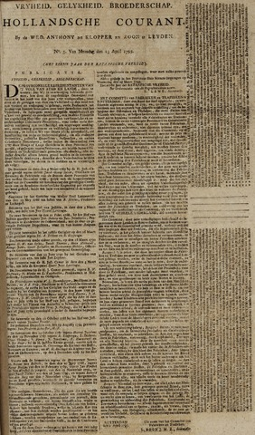 Leydse Courant 1795-04-13