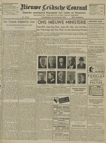 Nieuwe Leidsche Courant 1939-08-10