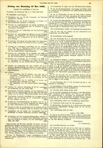 Handelingen van de Raad 1922-05-15