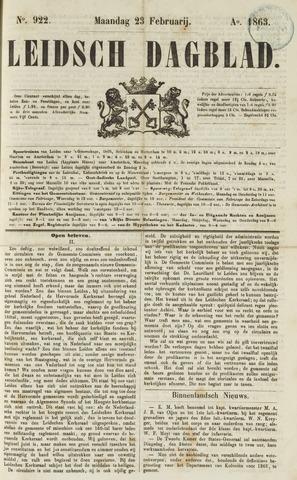 Leidsch Dagblad 1863-02-23