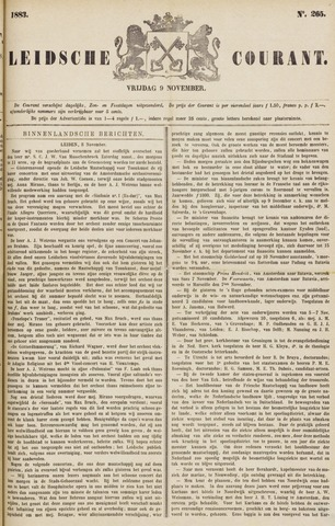 Leydse Courant 1883-11-09