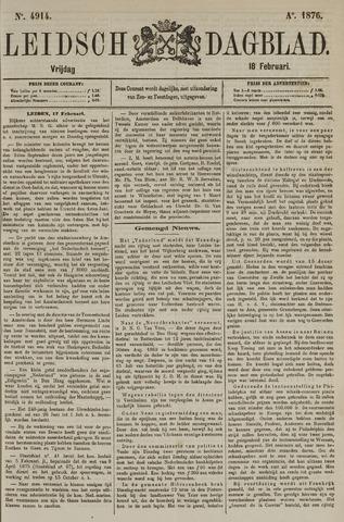Leidsch Dagblad 1876-02-18