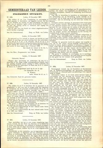 Handelingen van de Raad 1907-12-12