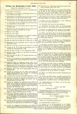Handelingen van de Raad 1916-07-06