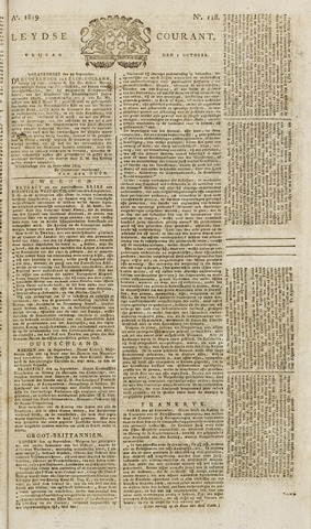 Leydse Courant 1819-10-01