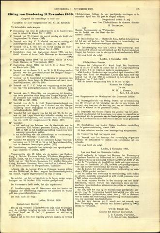 Handelingen van de Raad 1909-11-11