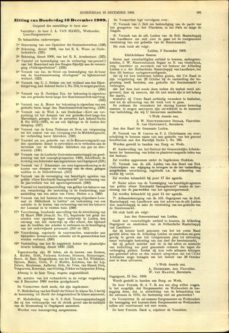 Handelingen van de Raad 1909-12-16
